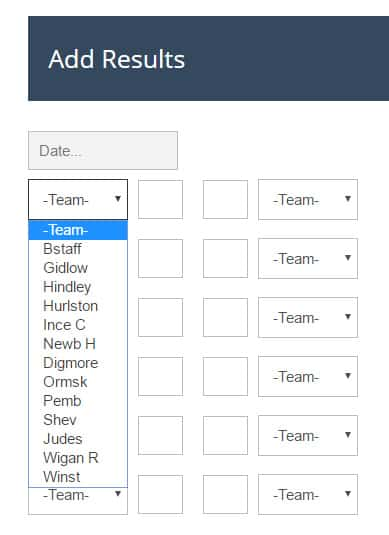 Wordpress Design: Example of form to input results